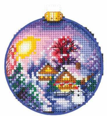 Набор для вышивания Сделай своими руками Н-27 Новогодние шары. Зимний пейзаж