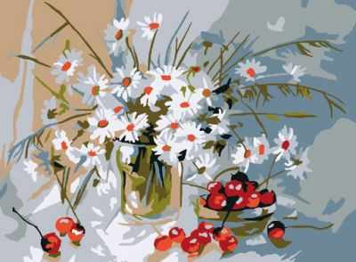 Набор для рисования по номерам Molly KH0040 Букет ромашек