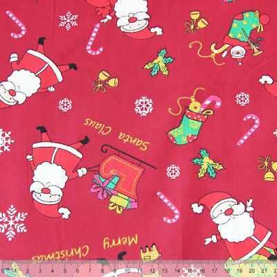 К2565 Дед Мороз на красном (50*80 см)