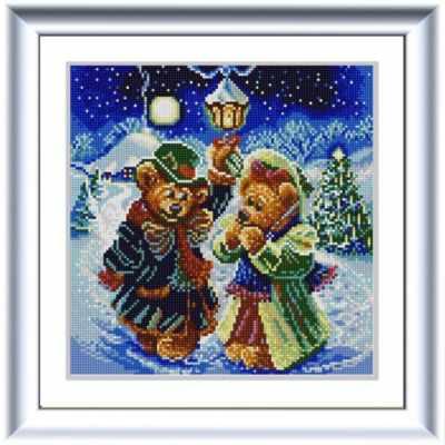 Основа для вышивания с нанесённым рисунком Конёк НИК 1257 Новогодние мишки - схема для вышивания (Конёк) основа для вышивания с нанесённым рисунком конёк ник 1245 сладкие сны схема для вышивания конёк