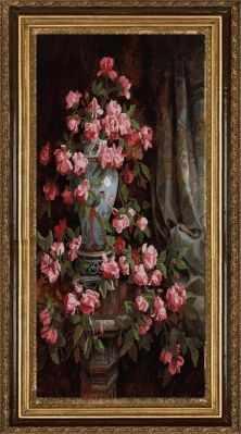 Основа для вышивания с нанесённым рисунком Конёк НИК 8479 Китайская роза - схема для вышивания (Конёк) основа для вышивания с нанесённым рисунком конёк ник 1245 сладкие сны схема для вышивания конёк