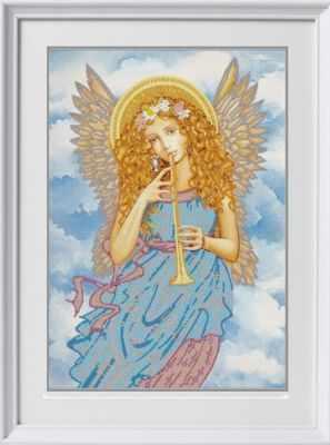 "НИК 8483""Играющий ангел""- Рисунок на ткани"