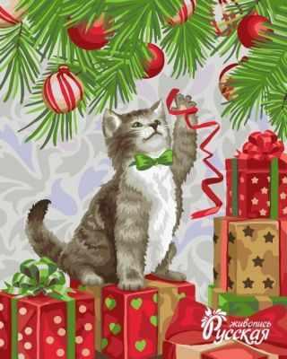Набор для раскрашивания по номерам Русская живопись H061 Игривый котенок
