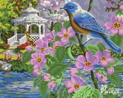 Набор для раскрашивания по номерам Русская живопись H070 Синяя птица