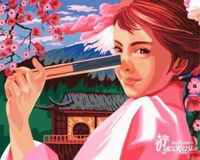 Набор для раскрашивания по номерам Русская живопись J022 Весна в Японии