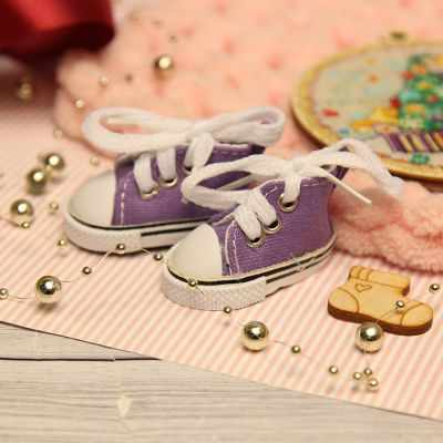 Заготовки и материалы для изготовления игрушки Березка Кеды для куклы на шнурочках 5 см, фиолетовые