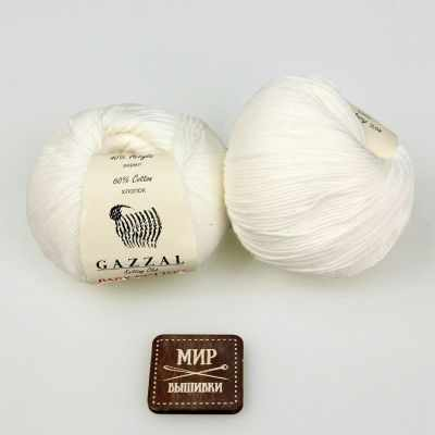 Пряжа GAZZAL Пряжа GAZZAL Baby Cotton Gazzal Цвет.3410 Белый