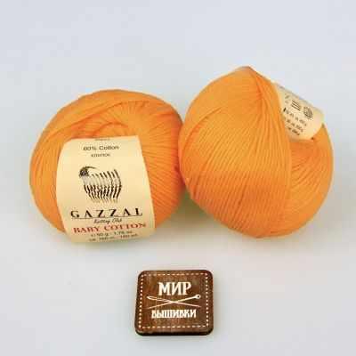 Пряжа GAZZAL Пряжа GAZZAL Baby Cotton Gazzal Цвет.3416 Светло оранжевый