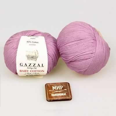 Пряжа GAZZAL Пряжа GAZZAL Baby Cotton Gazzal Цвет.3422 Сухая роза