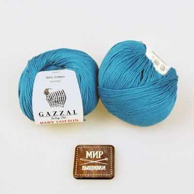 Пряжа GAZZAL Пряжа GAZZAL Baby Cotton Gazzal Цвет.3428 Бирюза