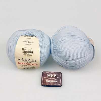 Пряжа GAZZAL Пряжа GAZZAL Baby Cotton Gazzal Цвет.3429 Светло голубой