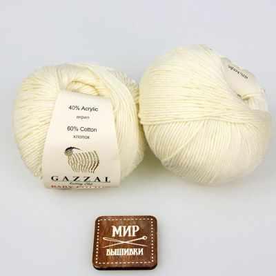 Пряжа GAZZAL Пряжа GAZZAL Baby Cotton Gazzal Цвет.3437 Молочный