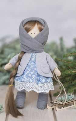 Набор для изготовления игрушки Арт Узор 3299323 Интерьерная кукла «Маня», набор для шитья