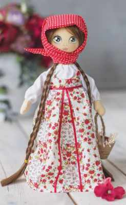 Набор для изготовления игрушки Арт Узор 3548673 Интерьерная кукла «Василина», набор для шитья