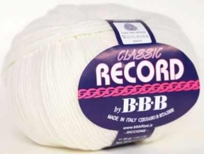 Пряжа BBB Filati Пряжа BBB Filati Record Цвет.0100 Белый