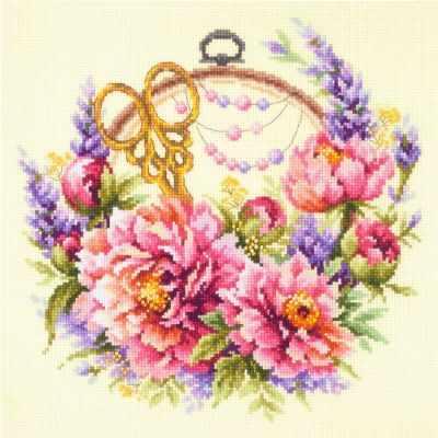Набор для вышивания Чудесная игла 100-124 Пионы для умелицы чудесная игла набор для вышивания пионы для умелицы 25 х 25 см 100 124