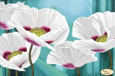 Основа для вышивания с нанесённым рисунком Tela Artis ТА-402 - Цветок ангелов - схема для вышивания (Tela Artis)