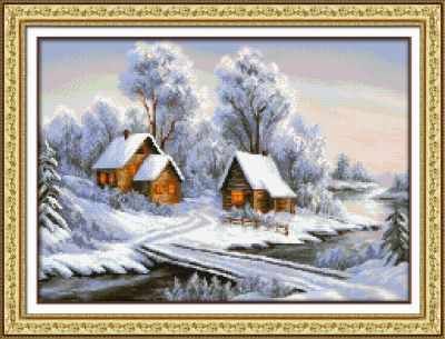 Мозаичная картина Паутинка Алмазная вышивка М443 Уголок зимы - мозаика (Паутинка)