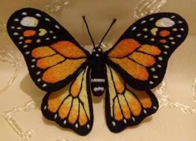 Набор для вышивания Гладкий мир Брошь бабочка Монарх - набор набор для рисования по номерам цветной бабочка красный монарх 20 x 30 см