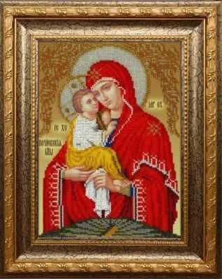 Набор для вышивания иконы Вышиваем бисером L-143 Почаевская Божей Матери