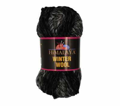 Пряжа Himalaya Winter wool Цвет.22 черн.сер.св.роз