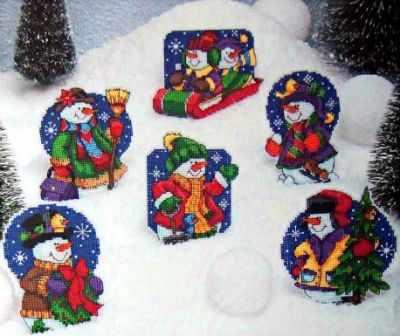 Набор для вышивания Classic Design 4462 Снеговички