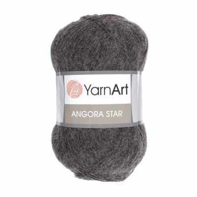 цена Пряжа YarnArt Пряжа YarnArt Angora Star Цвет.359 Темно-серый онлайн в 2017 году