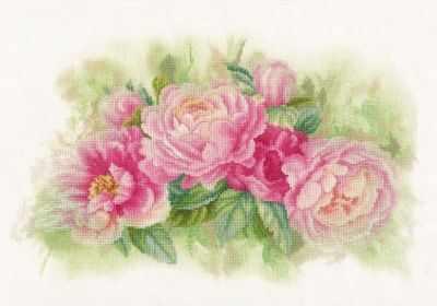 Набор для вышивания Lanarte PN-0170933 Bouquet of peonies