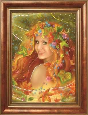 Мозаичная картина Преобрана Алмазная вышивка 0106/1 Осень - картина стразами (Преобрана)