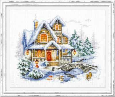 Набор для вышивания Чудесная игла 110-042 Зимний коттедж