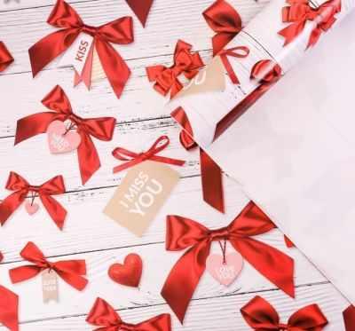 Бумага для упаковки подарков Дарите Счастье 3724416 Бумага упаковочная глянцевая I miss you