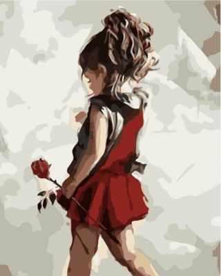 Набор для рисования по номерам Цветной Mg2089 Юная леди