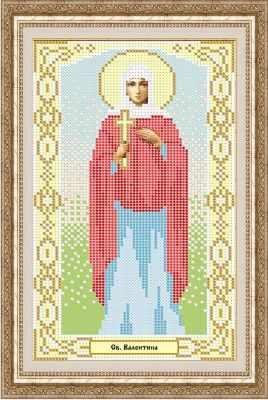 Основа для вышивания с нанесенным рисунком Матрёшкина КАЮ1043 Св. Валентина - схема для вышивания (Матрёшкина) основа для вышивания с нанесенным рисунком матрёшкина каю1282 св евгения