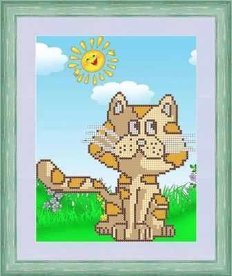 Основа для вышивания с нанесенным рисунком Матрёшкина КАЮ5001 Кот на солнышке - схема для вышивания (Матрёшкина)