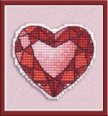 Набор для вышивания Овен 1173 Значок - сердце