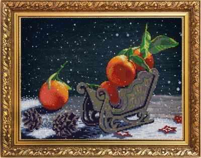 Основа для вышивания с нанесённым рисунком Конёк НИК 1264 Мандарины - схема для вышивания (Конёк) основа для вышивания с нанесённым рисунком конёк ник 1245 сладкие сны схема для вышивания конёк