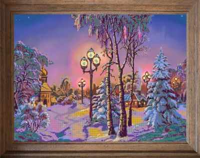 В710 Зимняя ночь - схема