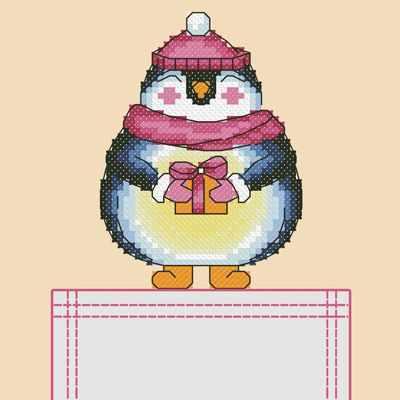 Основа для вышивания с нанесённым рисунком Марiчка СКВ-003 Пингвин - схема (Марiчка)