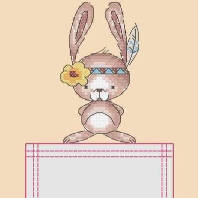 Основа для вышивания с нанесённым рисунком Марiчка СКВ-005 Зайка - схема для вышивания (Марiчка)