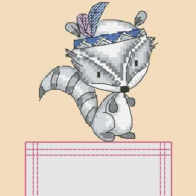 Основа для вышивания с нанесённым рисунком Марiчка СКВ-004 Енотик - схема для вышивания (Марiчка)
