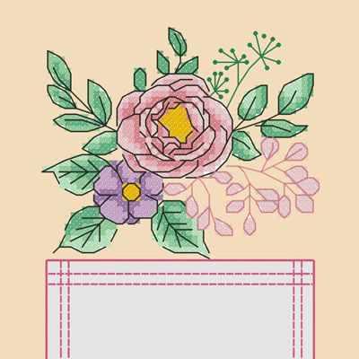 Основа для вышивания с нанесённым рисунком Марiчка СКВ-008 Цветы - схема для вышивания (Марiчка)