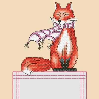 Основа для вышивания с нанесённым рисунком Марiчка СКВ-009 Лиса - схема для вышивания (Марiчка)