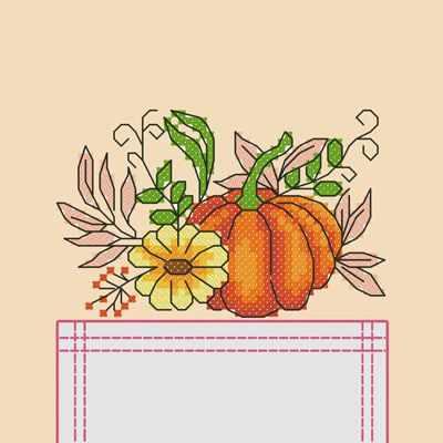 Основа для вышивания с нанесённым рисунком Марiчка СКВ-010 Тыковка - схема для вышивания (Марiчка)