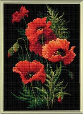 Набор для вышивания Риолис (Сотвори Сама) Алмазная вышивка АМ0007 Маки риолис набор для вышивания 1775 розовые маки