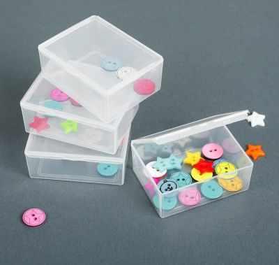 Органайзер - 2610601 Контейнеры для хранения мелочей, 4шт, цвет прозрачный