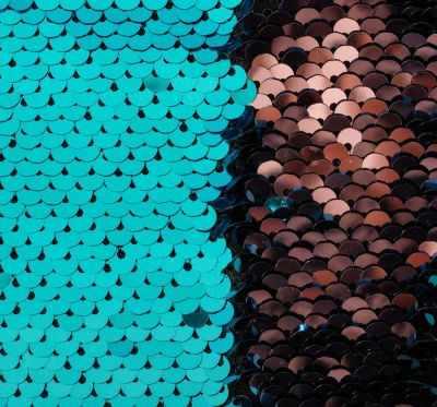Ткань для скрапбукинга Арт Узор 3891580 Ткань для пэчворка «Голубая и розовая» пайетки двусторонние