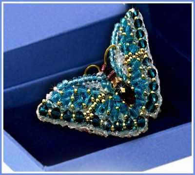 Набор для вышивания иконы Образа в каменьях 77-Б-01 Брошь Бабочка Циркон
