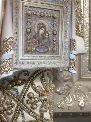 Набор для вышивания иконы Образа в каменьях 77-Р-4 Рушник Венчальный
