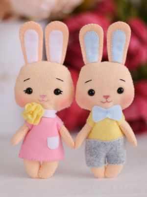 Набор для изготовления игрушки ТУТТИ 05-40 Два зайчика Банни и Фанни