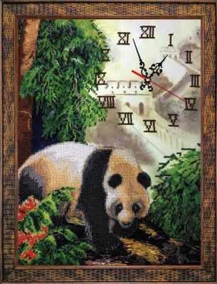 Набор для вышивания FeDi КВ532 Часы с пандой - набор